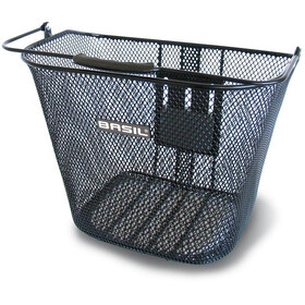 Basil Bremen BE Front Wheel Basket with BasEasy Adapter Plate without Holder black